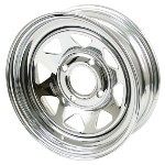 CHROME STEEL VW WHEELS 4 BOLT