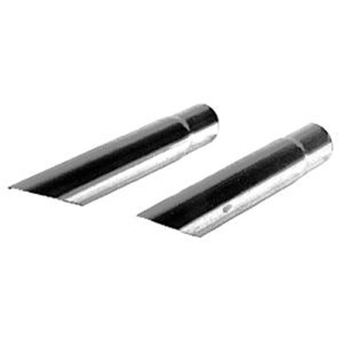 Chrome Exhaust Tips, Diagonal Cut, For Type 1 Beetle Muffler