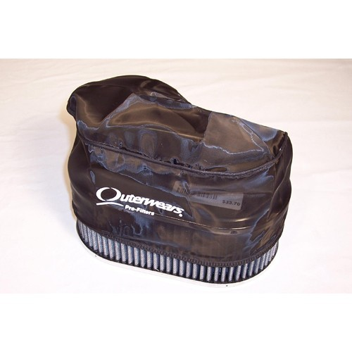 """Outerwear Pre-Filter, 4.5"""" X 7"""" Oval, 3.5"""" Tall, Black"""