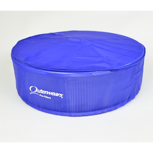 """Outerwear Pre-Filter, 14"""" Round, 4"""" Tall, Blue"""