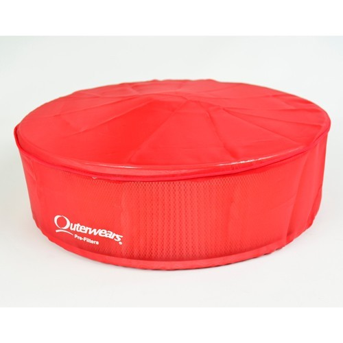 """Outerwear Pre-Filter, 14"""" Round, 5"""" Tall, Red"""