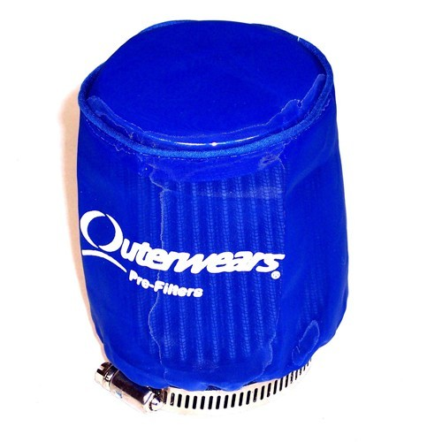 """Outerwear Pre-Filter, 3.5"""" To 3"""" Taper, 4"""" Tall, Blue"""