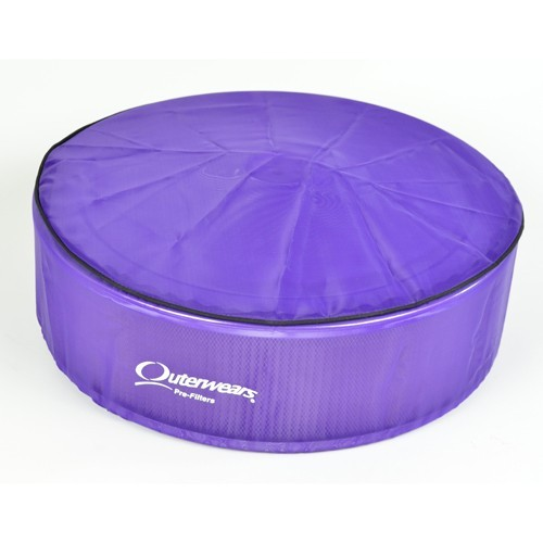 "Outerwear Pre-Filter, 14"" Round, 4"" Tall, Purple"