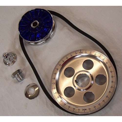 Degree Crank Pulley Kit, Blue Letters, Standard Diameter