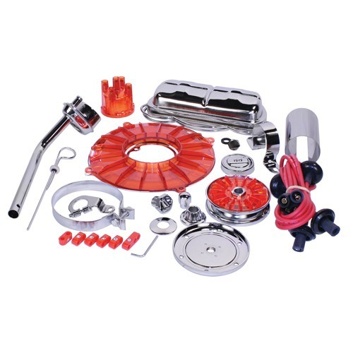 Super Color & Chrome Dress Up Kit, Red, For Aircooled VW