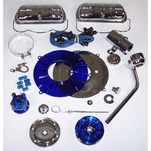 Super Color & Chrome Dress Up  Kit, Blue, For Aircooled VW