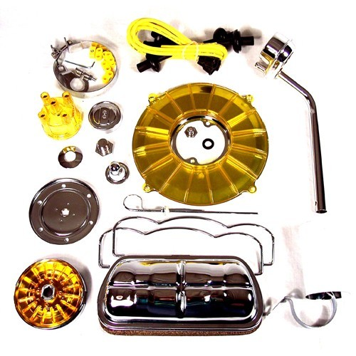 Super Color & Chrome Dress Up Kit, Yellow, For Aircooled VW