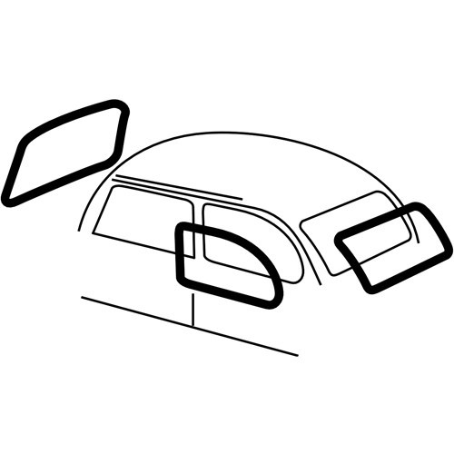 Dune Buggy Vw Beetle Quarter Window Seal For Beetle 65 77 Left