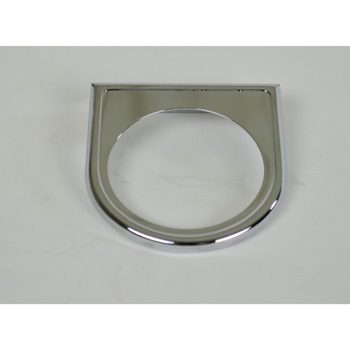1 Hole Gauge Panel, Chrome For 2-1/16
