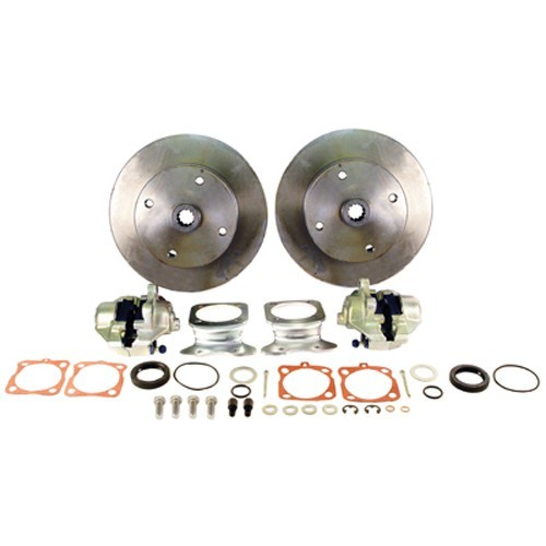 Disc Brake Kit, 5 On 4-3/4 Chevy, Swing Axle Short Spline