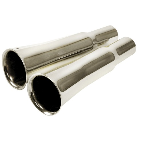 Exhaust Tips, Flared Style, For Stock Beetle Exhaust, Pair