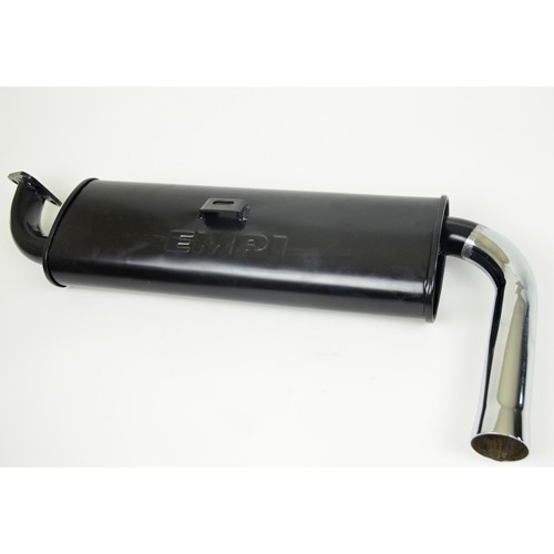 Quiet Muffler, With Chrome Tip,3 Bolt Flange, For Beetle