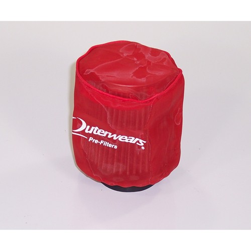 "Outerwear Pre-Filter, 3.5"" Round, 4"" Tall, Red"