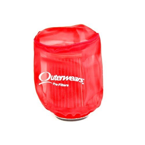 "Outerwear Pre-Filter, 4"" Round 5"" Tall, Red"