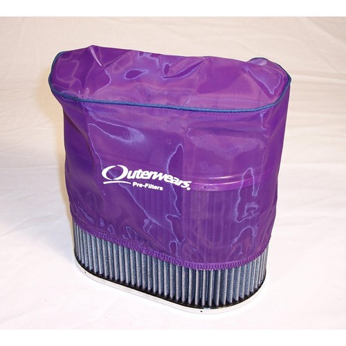 """Outerwear Pre-Filter, 5.5"""" X 9"""" Oval, 6"""" Tall, Purple"""