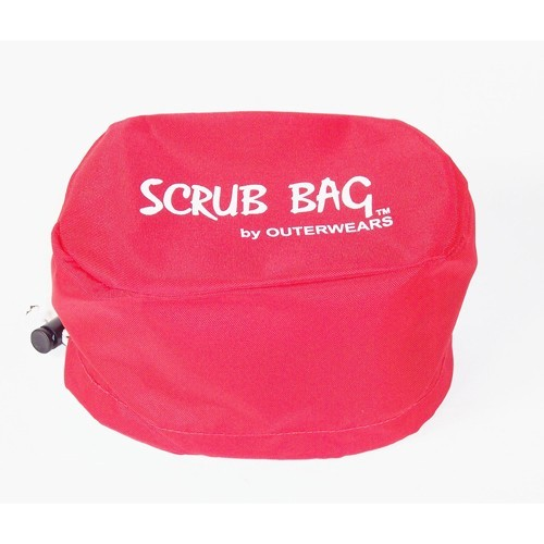 "Storage Bag, 4.5"" X 7"" Oval, 3.5"" Tall, Red"
