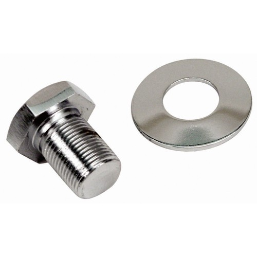 Crank Pulley Bolt, Extra Long, Chrome Plated Hex Head