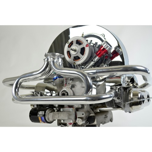 """Baja Exhaust, 1-1/2"""" With 3 Bolt Flange, Ceramic Coated"""