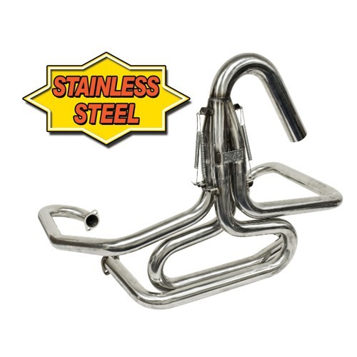 "Bobcat Exhaust, 1-5/8"" With U-Bend Stinger, Stainless"