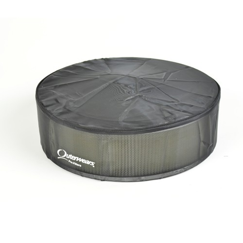 """Outerwear Pre-Filter, 14"""" Round, 6"""" Tall, Black"""
