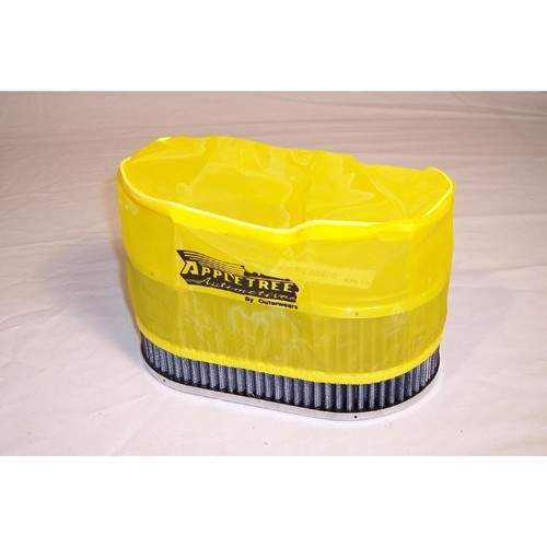 "Outerwear Pre-Filter, 5.5"" X 9"" Oval, 4"" Tall, Yellow"