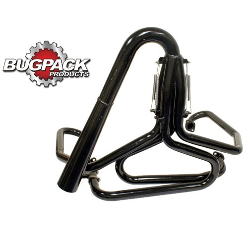 "Big Motor Exhaust, 1-5/8"" With Straight Stinger, Raw"