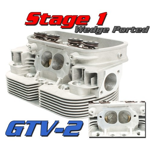 Gtv-2 Cnc VW Heads, 92mm Stage 1 Port Job, Dual Spring, Pair