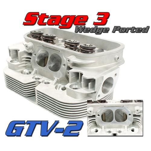 Gtv-2 Cnc VW Heads, 92mm Stage 3 Port Job, Dual Spring, Pair