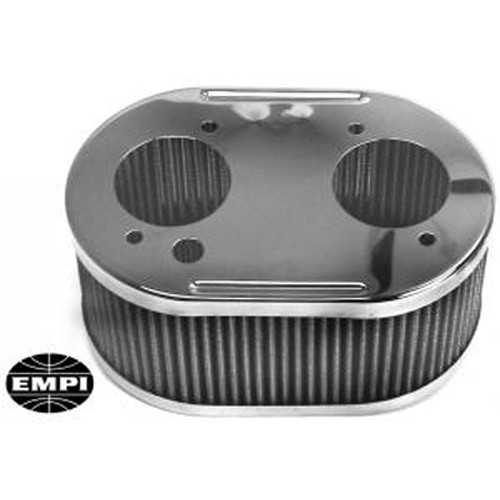Air Cleaner Assembly, Fits DcoE & DRLA, 4.5x7 Oval, 3.5 Tall