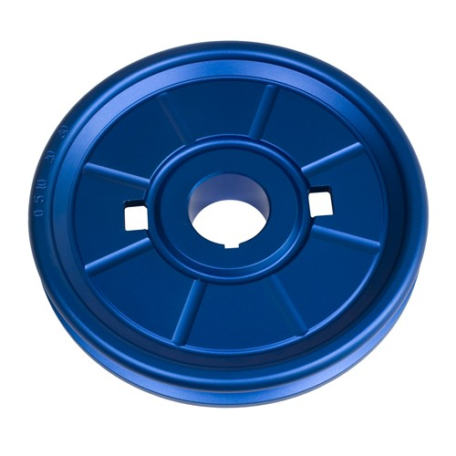 Stock Crank Pulley,  Aluminum Stock Look VW Pulley, Blue