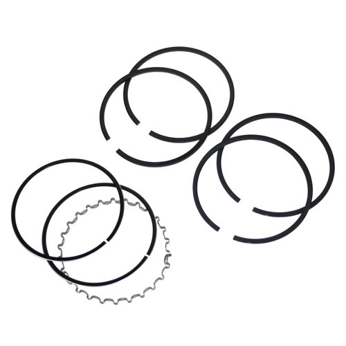 Piston Ring Set, 77mm, 2 X 2  x 4, With Cast Top Ring