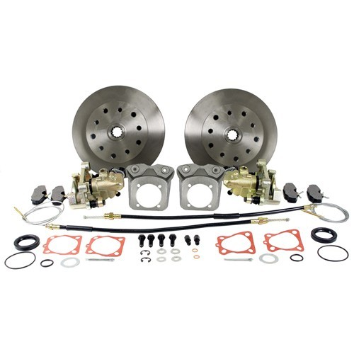 Disc Brake Kit, 5 On 4-3/4 Chevy, E-Brake, Long Spline HD