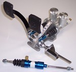 CHROME PEDALS FOR CABLE, BLUE