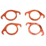 "Exhaust Gaskets, 1-1/2"" Copper Slip-in, 4 Pack"