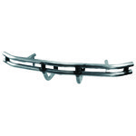 Front Bumper, Double Tube, Raw Steel
