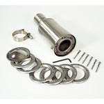 """Spark Arrestor, 10"""" Stainless With 2"""" Clamp On Inlet"""