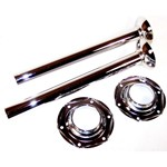 Chrome Swing Axle Tubes, Sold As A Pair