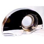 36 Hp Style Fan Shroud, No Ducts, Chrome
