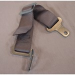 "2"" Crotch Strap, Grey, Fits All Duck Bill Style Belts"
