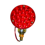 "4"" Led Tail Light, Red, Dual Function, Each"