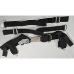 "Seat Belt, 2"" Shoulder & 3"" Lap, Duck Bill, 4 Point, Black"