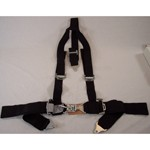 "SEAT BELT, 2"" Shoulder & 3"" Lap, Duck Bill, Deluxe Black"