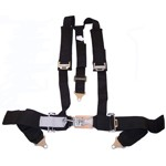 "SEAT BELT, 2"" Shoulder With Pads & 3"" Lap, Duck Bill, Black"