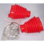 Swing Axle Boot, Red, For Beetle & Ghia 48-68, Pair