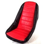 LOW BACK SEAT COVER, RED, Fits Most Fiberglass Seats