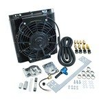 Oil Cooler Kit, 96 Plate Mesa Style, With Electric Fan