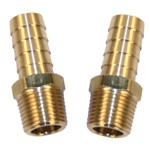 Barbed Fittings, 3/8 Npt With 3/8 Barbed End, 2 Pack