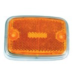 Side Marker Lens, For Bus 70-74 Yellow/Silver
