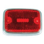 Side Marker Lens, For Bus 70-74, Red/Silver