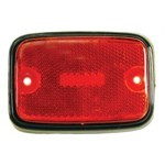 Side Marker Lens, For Bus 75-79, Red/Silver